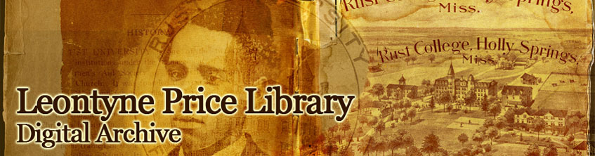 Leontyne Price Library Digital Archive header