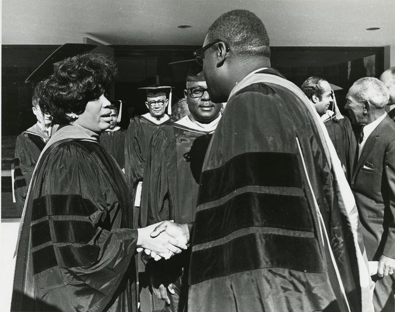 Leontyne Price greeting particpants at Founders Day.