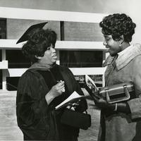 Miss Price in front of the Leontyne Price with unknown female.